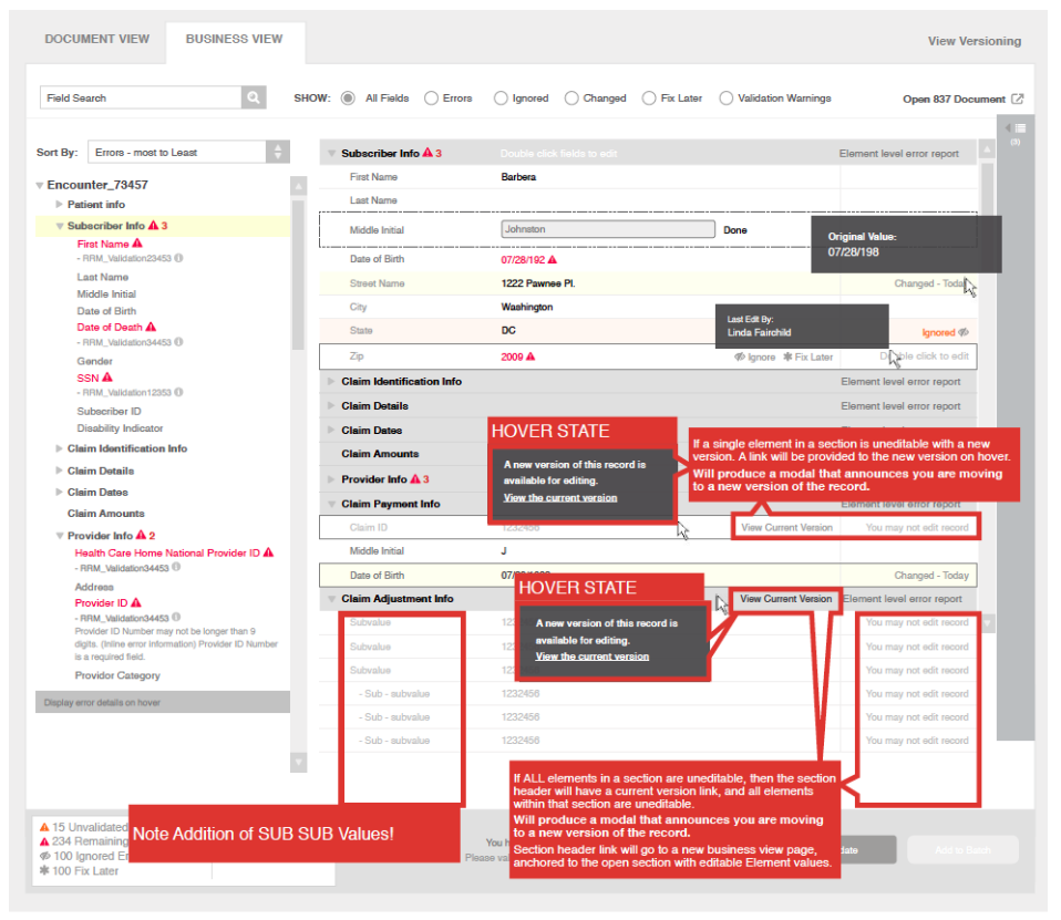 Confusing annotated wireframes