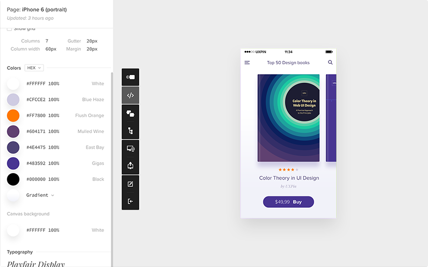 Uxpin preview