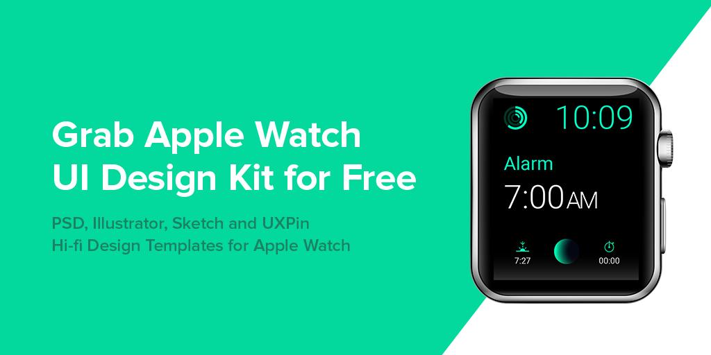 Apple Watch UI Design Kit for Free
