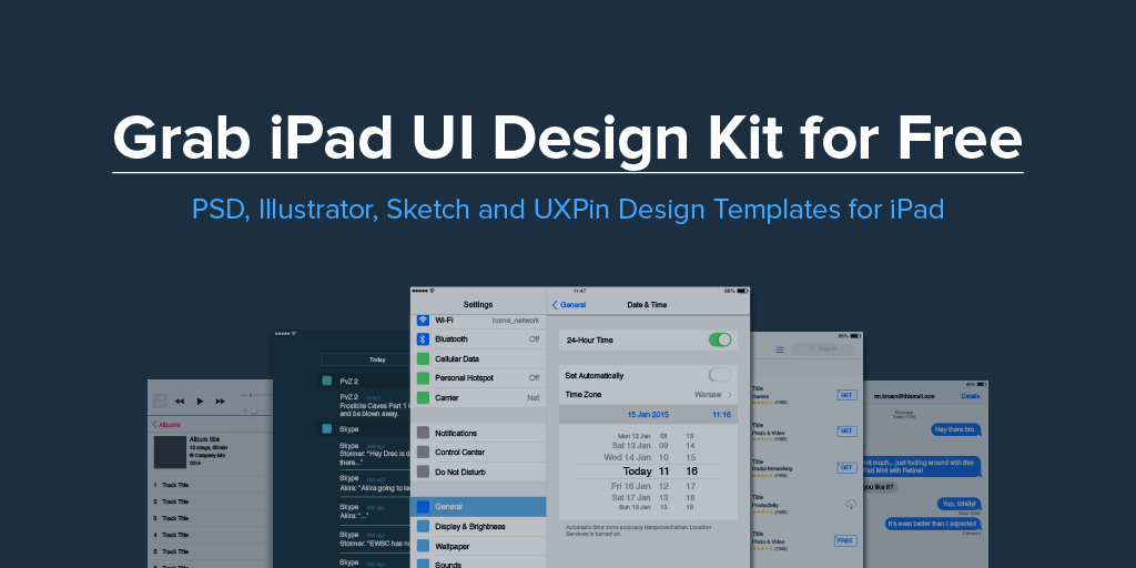 iPad UI Design Kit for Free