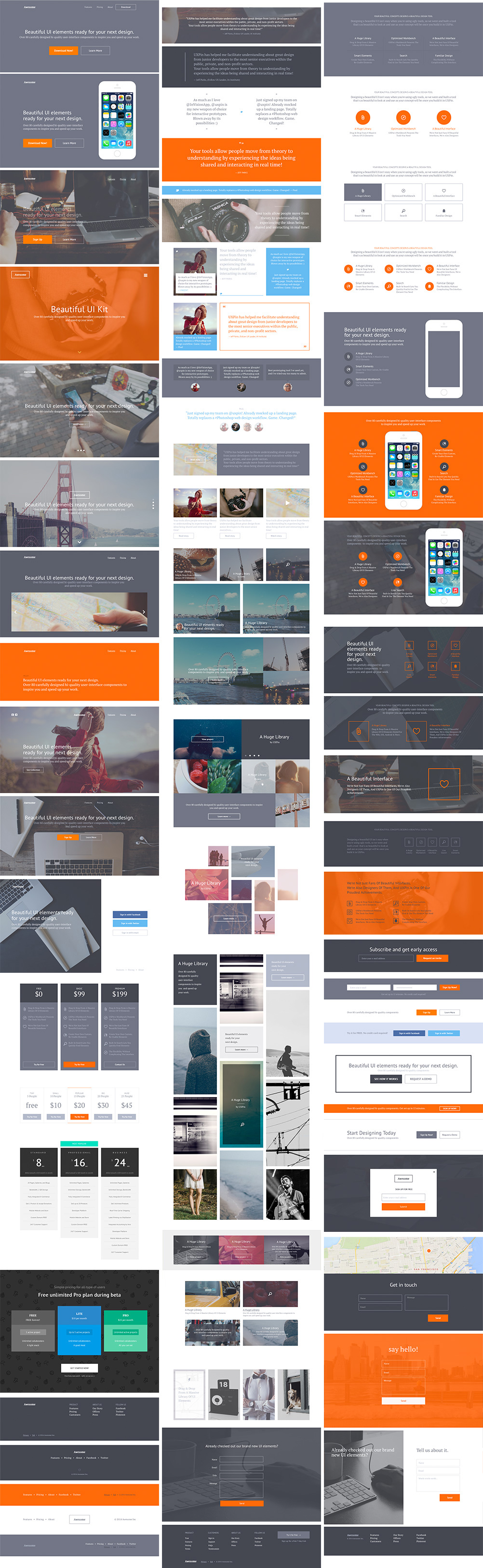 get an awesome ui kit by uxpin for free