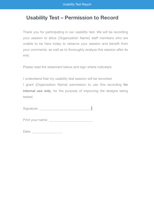 Usability test report template 28 images usability for Usability test plan template