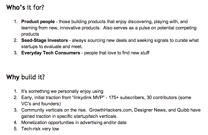 ProductHunt product requirements document