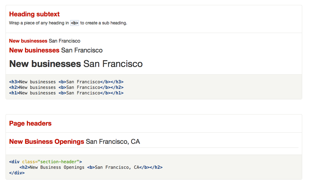 Yelp style guide