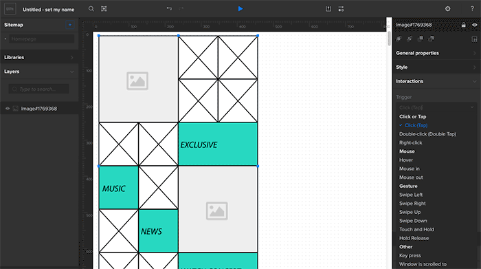Sample lo-fi wireframe