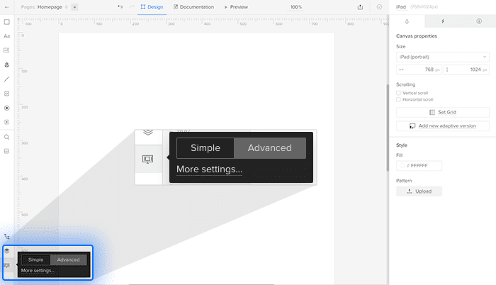 Editor view options
