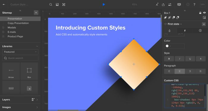 Applying custom styles with CSS