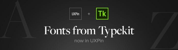 Typekit and UXPin