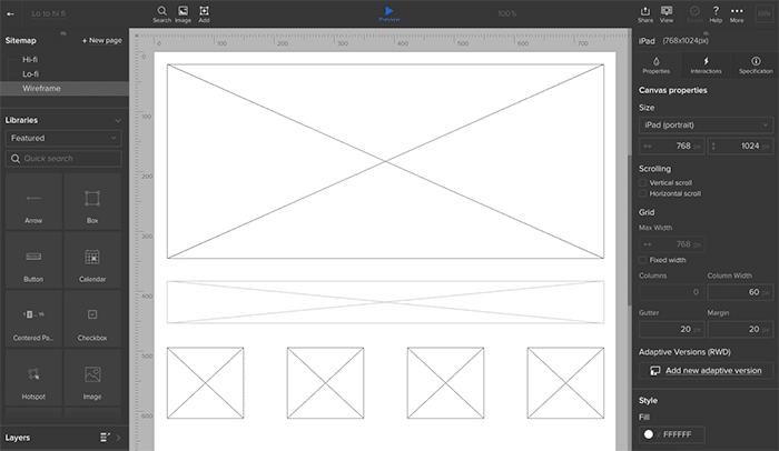 Design wireframe